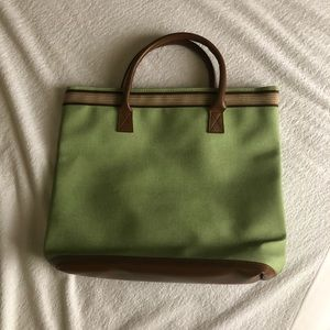 Simple Green/Brown Tote bag